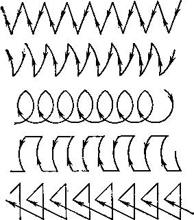 Схема движения электрода при ручной электродуговой сварке